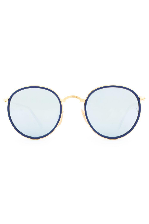 ec5348609b0fa Óculos Ray Ban Round Folding Dobrável RB3517 001 30-51 - Moda it