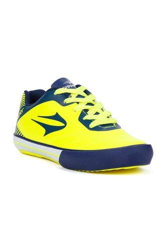5ad1394fa7 Tênis Futsal Topper Frontier VIII Jr Infantil para Menino - Amarelo azul  marinho