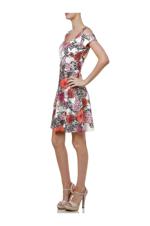 68f56f585c Vestido Curto Feminino Autentique Off White rosa - Moda it