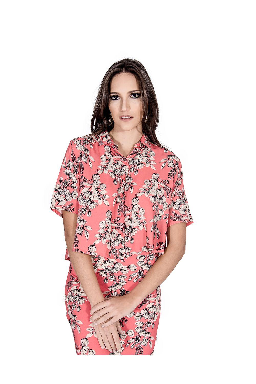 99fcfc21e Camisa Floral Colcci - Moda it