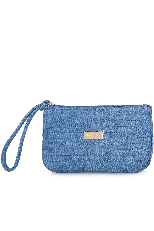 9f9ea1609 Carteira Feminina Fellipe Krein Matelassê Textura Jeans Azul - Moda it