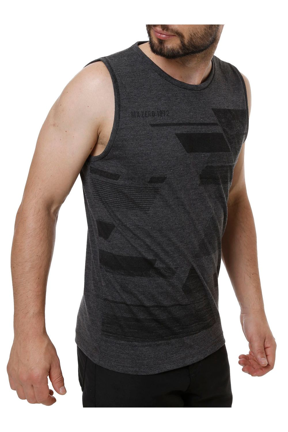 Camiseta Regata Masculina Cinza - Moda it 4448b92d53d