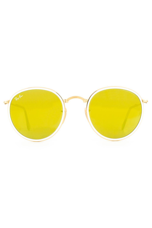 Óculos de Sol Ray Ban Round Folding Dobrável RB3517 001 93-51 - Moda it 57941f524a