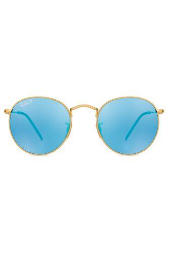 180d4cfce9 Óculos de Sol Ray Ban Round Flat Lenses RB3447NL 001 30-50