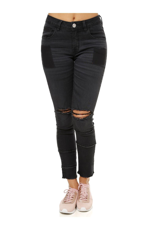 4dda3915c6a Calça Jeans Feminina Uber Preto - Moda it