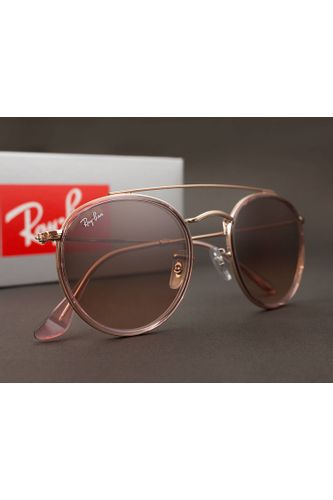 37fccc2fae100 Óculos de Sol Ray Ban Round Double Bridge RB3647N 9069A5-51