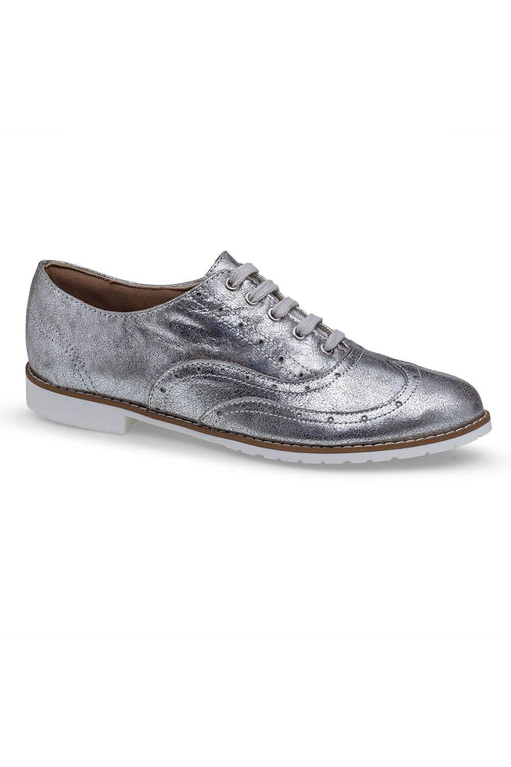 bcdec4a747 Sapato Oxford Prata Flamarian - 201282-6PR - Moda it
