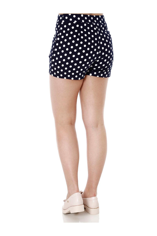 9e6d0138a8 Short de Tecido Feminino Azul marinho - Moda it